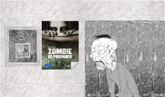hallway zombie