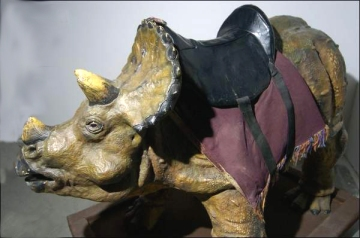 Dino with a saddle at the Creationism Museum