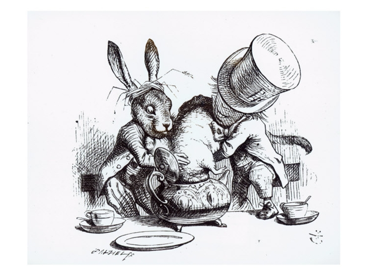 The Mad Hatter And March Hair Setting Up A Breeding Experiment In Teacup